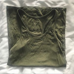 Olive Green A New Day Tank Top Size Medium